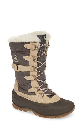 Kamik Snovalley2 Waterproof Thinsulate-Insulated Snow Boot, Brown