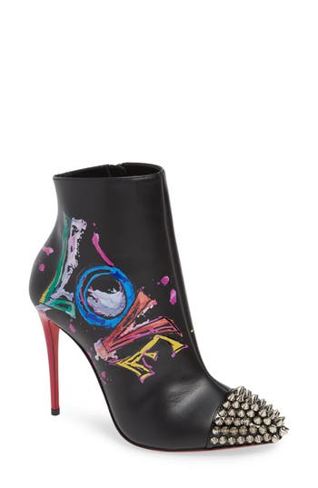 Christian Louboutin Love Is A Boot Spiked Bootie - Black