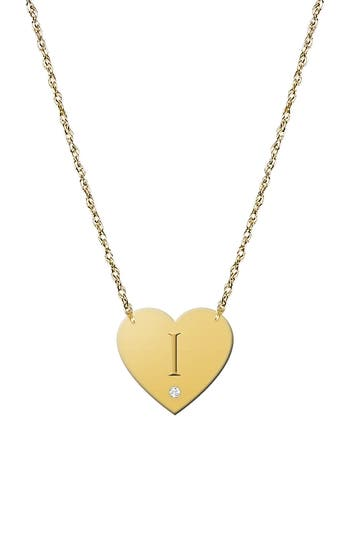 Women's Jane Basch Designs Diamond & Initial Pendant Necklace (Nordstrom Online Exclusive)