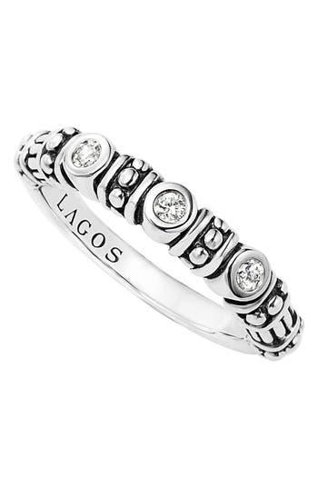 Women's Lagos Three Diamond Stacking Ring