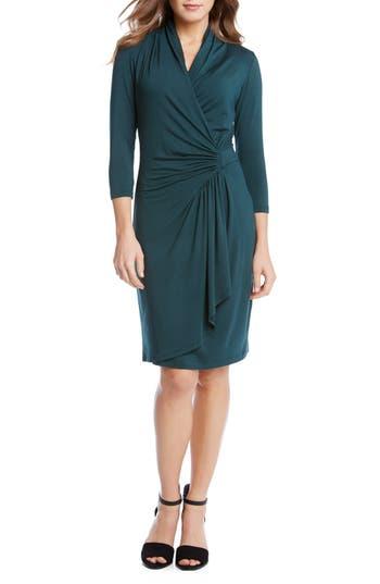 Wiggle Dresses | Pencil Dresses Womens Karen Kane Cascade Faux Wrap Dress Size X-Large - Green $43.20 AT vintagedancer.com
