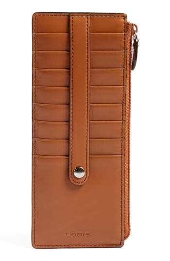 Women's Lodis Audrey Rfid Leather Credit Card Case - Brown