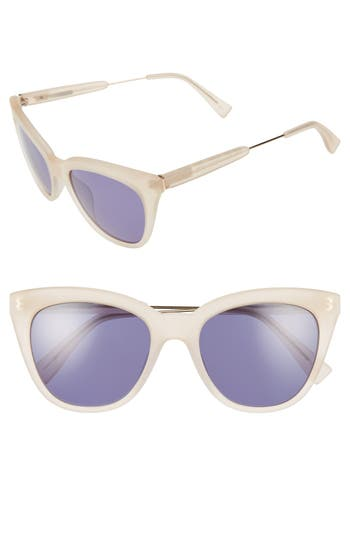 Women's Derek Lam 'Lenox' 53Mm Cat Eye Sunglasses - Purple Tortoise