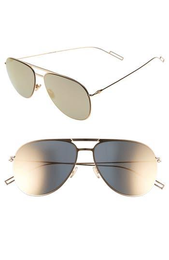 Men's Dior Homme 59Mm Aviator Sunglasses - Gold Metallic