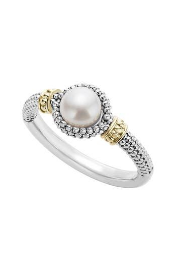 Women's Lagos Luna Halo Pearl Ring