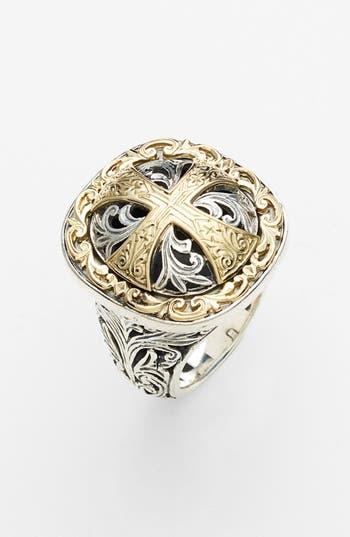 Women's Konstantino 'Classics' Cross Two-Tone Ring