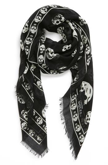 Men's Alexander Mcqueen Skull Print Modal & Silk Scarf