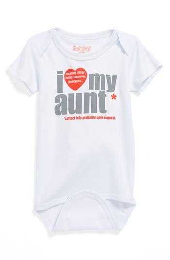 Infant Boy's Sara Kety Baby & Kids 'I Love My Aunt' Bodysuit