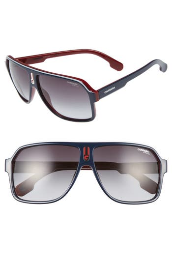 Carrera Eyewear 62Mm Aviator Sunglasses - Blue Red