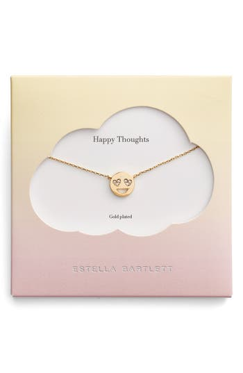 Women's Estella Bartlett Happy Thoughts Emoji Necklace