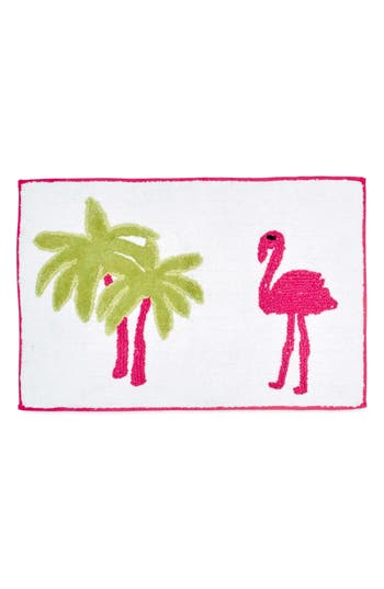 Destinations Pink Flamingo Bath Rug