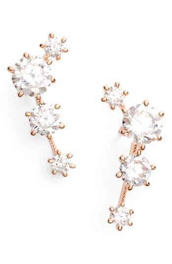 Edwardian Jewelry | Downton Abbey Earrings, Necklaces, Rings Womens Nadri Edwardian Ear Crawlers $45.00 AT vintagedancer.com