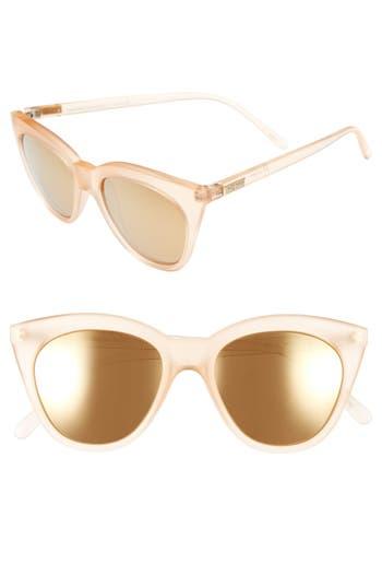 Unique Retro Vintage Style Sunglasses & Eyeglasses Womens Le Specs Halfmoon Magic 51Mm Cat Eye Sunglasses - Raw Sugar $59.00 AT vintagedancer.com