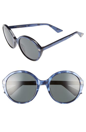 Women's Gucci 54Mm Round Sunglasses -