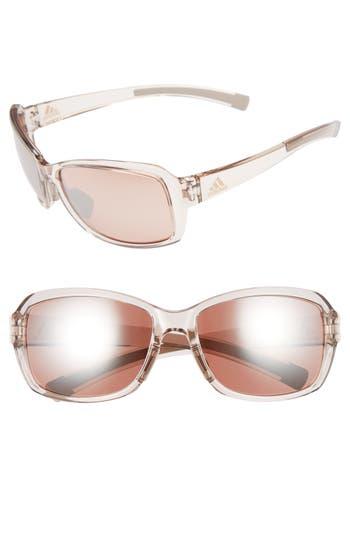 Women's Adidas Baboa 58Mm Sunglasses - Nude Tranparent/ Taupe