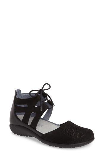 Women's Naot Kata Lace-Up Sandal, Size 6US / 37EU - Black