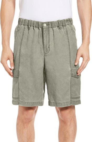 Big & Tall Tommy Bahama Linen The Dream Cargo Lounger Shorts - Brown
