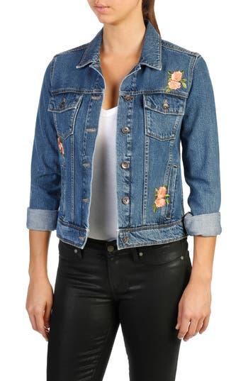 Women's Paige Rowan Embroidered Denim Jacket