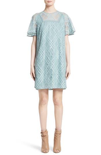 Women's Burberry Keri Floral Check Lace Dress