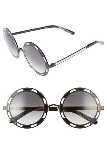 Unique Retro Vintage Style Sunglasses & Eyeglasses Womens Pared Sonny  Cher 50Mm Round Sunglasses - Black Titanium White Grey $260.00 AT vintagedancer.com