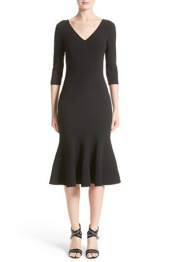Women's Michael Kors Stretch Wool Crepe Flounce Dress
