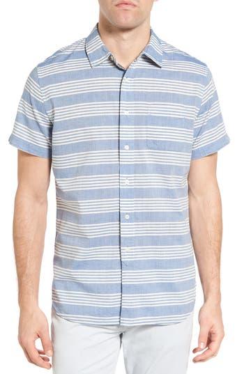 Men's Grayers Sheffield Trim Fit Stripe Chambray Sport Shirt