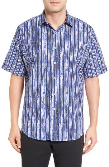 Men's Bugatchi Classic Fit Stripe Print Sport Shirt