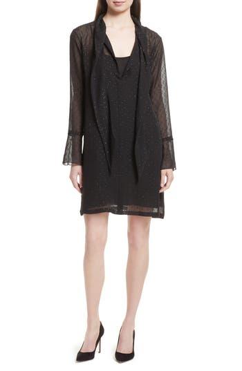 Women's Theory Metallic Silk Scarf Dress
