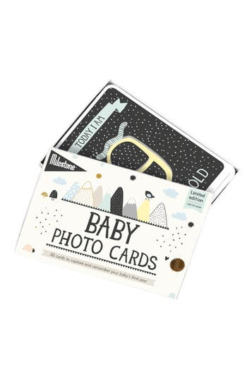 Milestone Set Of 30 Baby's First Year Illustrated Cards