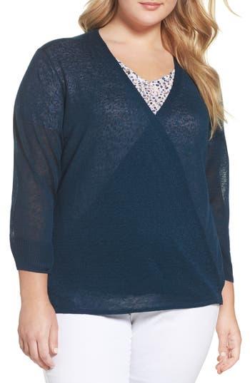 Plus Size Women's Nic+Zoe Four-Way Convertible Cardigan