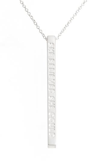 Women's Mantraband She Believed She Could So She Did Pendant Necklace