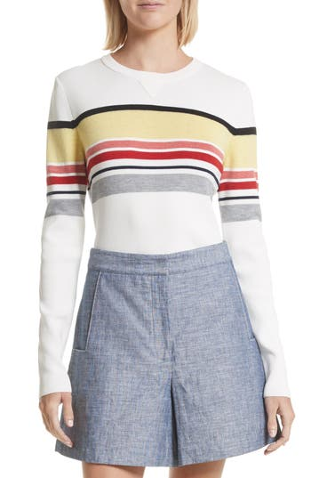 Women's Grey Jason Wu Stripe Sweater