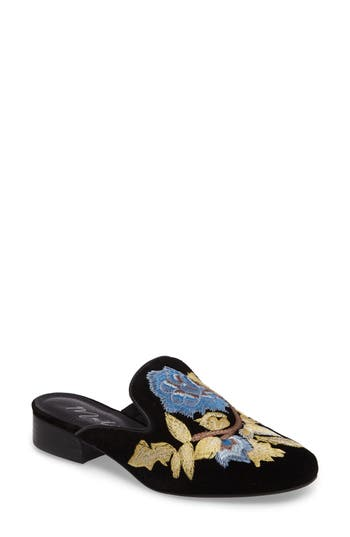 Matisse Bianca Embroidered Mule, Black