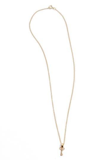 Girl's Kardee Kids Key Charm 14K Gold Pendant Necklace