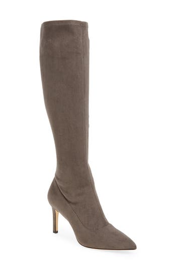 Nine West Carrara Knee High Pointy Toe Boot, Grey