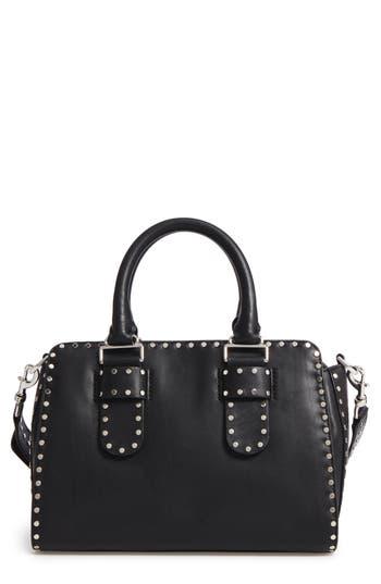 Rebecca Minkoff Medium Midnighter Leather Satchel - Black