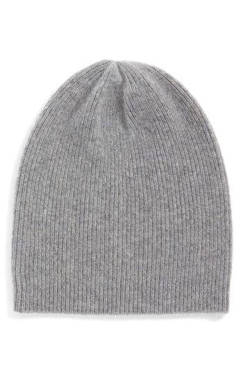 Women's Halogen Slouchy Cashmere Beanie - Grey