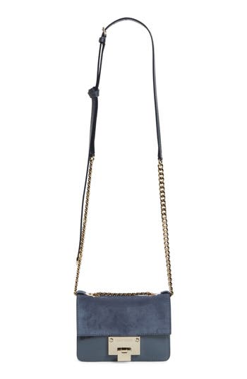 Jimmy Choo Mini Rebel Suede Crossbody Bag - Blue
