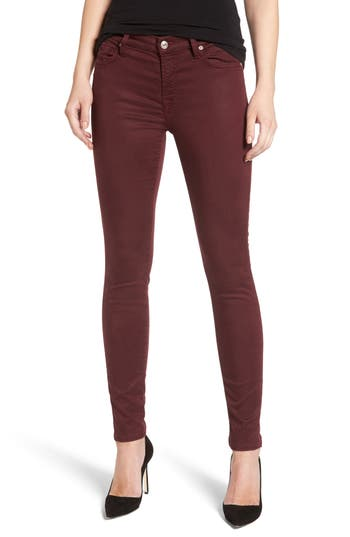 7 For All Mankind B(Air) Ankle Skinny Jeans, Red