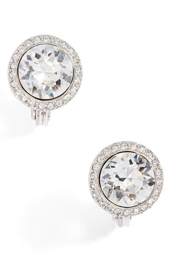 Givenchy  CRYSTAL CLIP-ON BUTTON EARRINGS