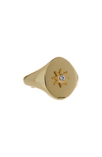 Women's Luv Aj Revel Starburst Signet Ring