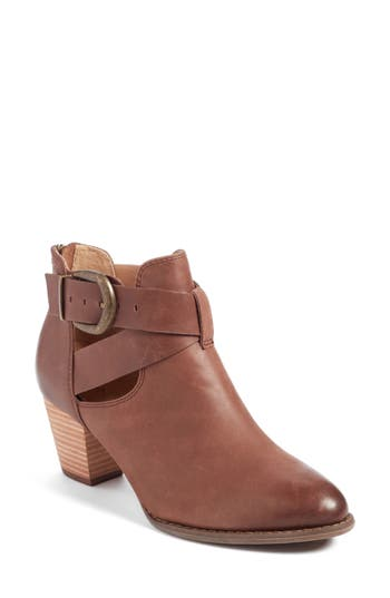 Vionic Rory Buckle Strap Bootie, Brown