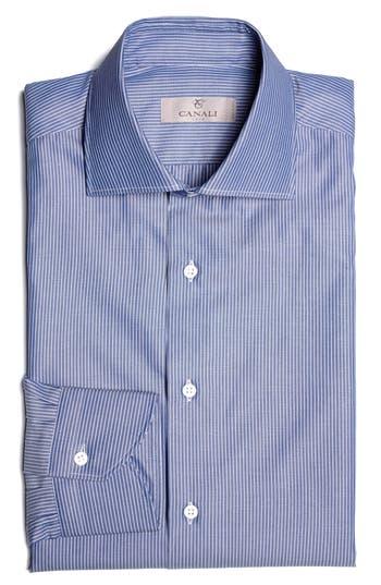 Men's Canali Regular Fit Stripe Dress Shirt