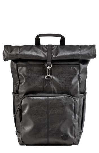 Men's Timberland Walnut Hill Carbon Roll Top Backpack - Black