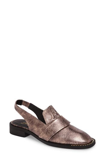 Women's Free People Abbey Road Embellished Slingback Loafer, Size 6-6.5US / 36EU - Pink