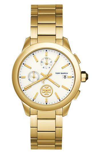 Women's Tory Burch Collins Chronograph Bracelet Watch, 38Mm