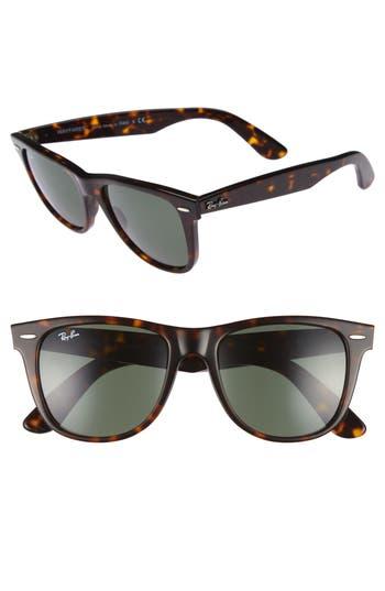 Ray-Ban Classic Wayfarer 5m Sunglasses - Dark Tortoise/ Green