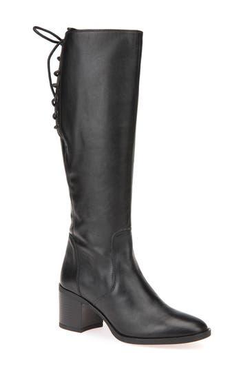 Geox Glynna Knee High Boot, Black