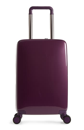 Raden The A22 22 Inch Charging Wheeled Carry-On Suitcase - Purple
