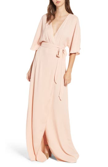 Women's Afrm Monroe Wrap Dress, Size X-Small - Pink